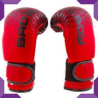 """Боксерские перчатки BadBoy """"жираф"""" DX  8 oz, Красный"""