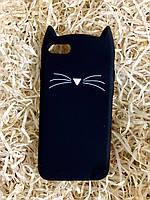 Силиконовый чехол Cat для iPhone 8 / 7, черный