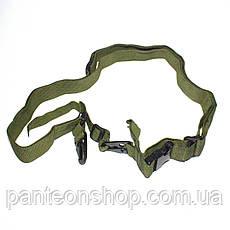 Трьохточковий ремінь олива, фото 2