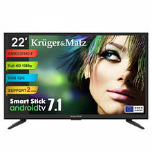 "Телевизор 22"" Kruger&Matz (KM0222FHD-F) Smart Stick"