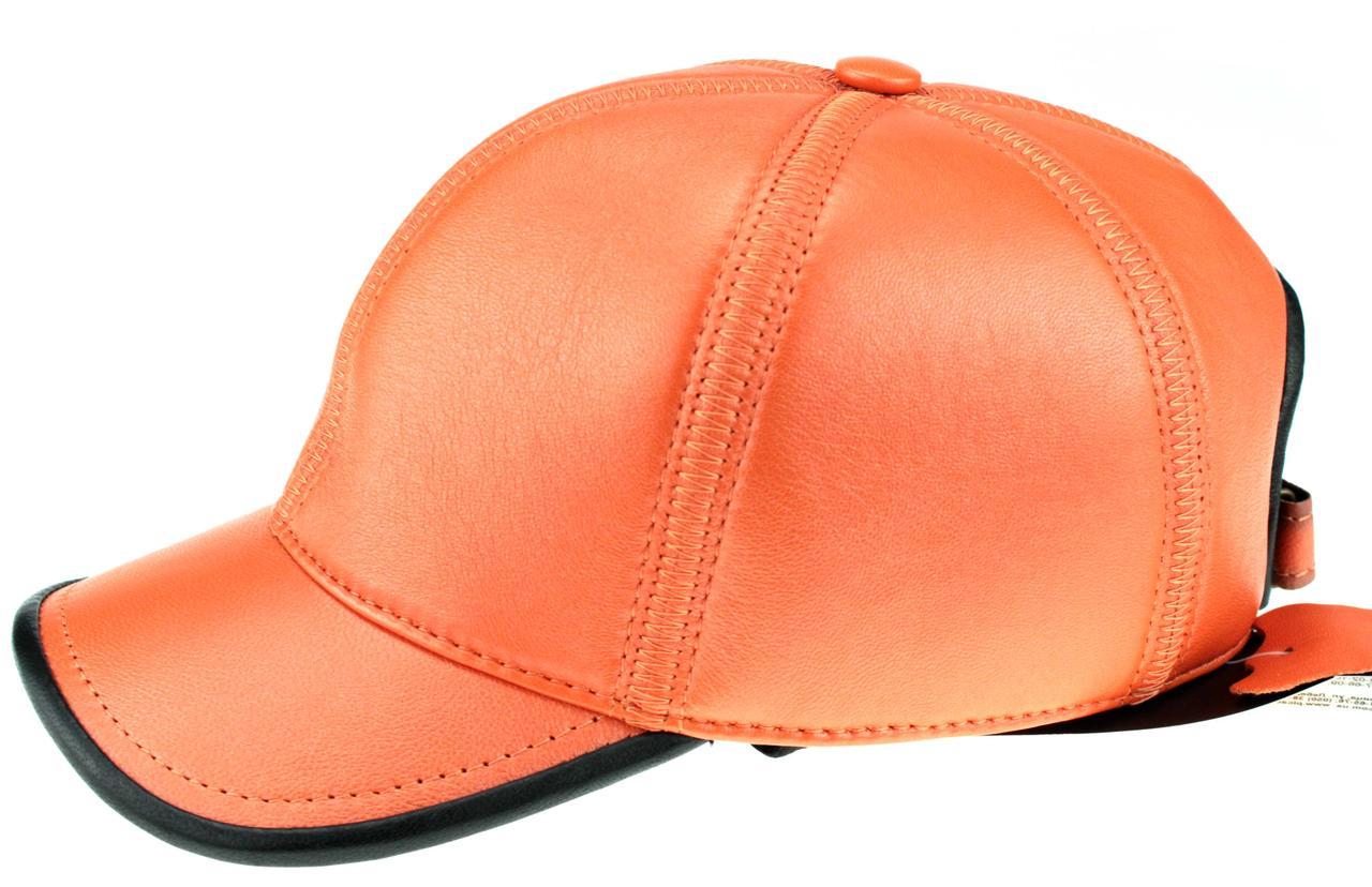 Мужская бейсболка Picador кожаная оранжевая