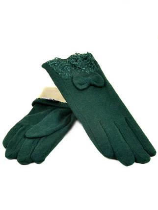 Перчатка Женская кашемир (ПЛ)д F12 мод2 зел Распродажа, фото 2