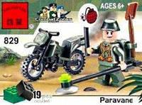"""Конструктор 829 Сапер на мотоциклі 19 елементів  """"Brick"""""""