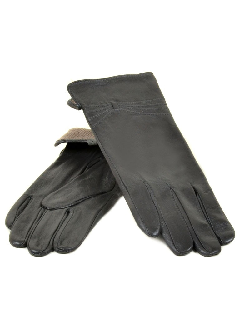 Перчатка Женская кожа (Ш) F23 мод5 т.сер st30 Распродажа