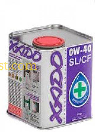 Масло автомобильное 1л   (синтетика, 0W-40SL/CF Atomic Oil)   (20102)   ХАДО, фото 2