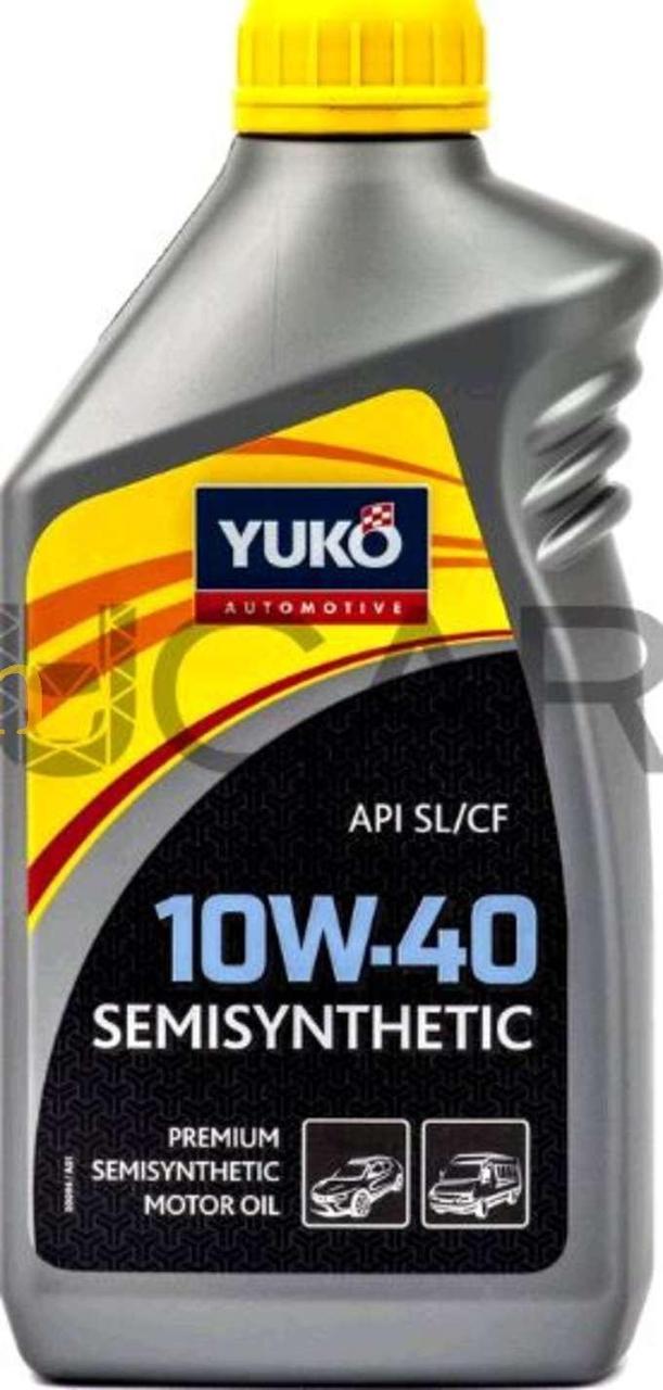 Масло автомобильное, 1л   (SAE 10W-40, SEMISYNTHETIC, API SL/CF)   YUKO