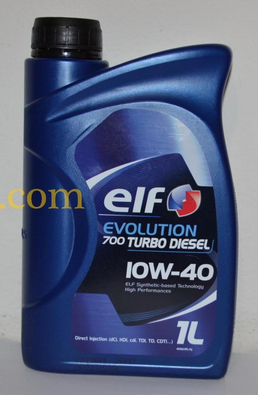 Масло автомобильное, 1л   (SAE 10W-40, полусинтетика) (Evolution 700 TURBO DIESEL 10W-40 )   ELF   (GPL)