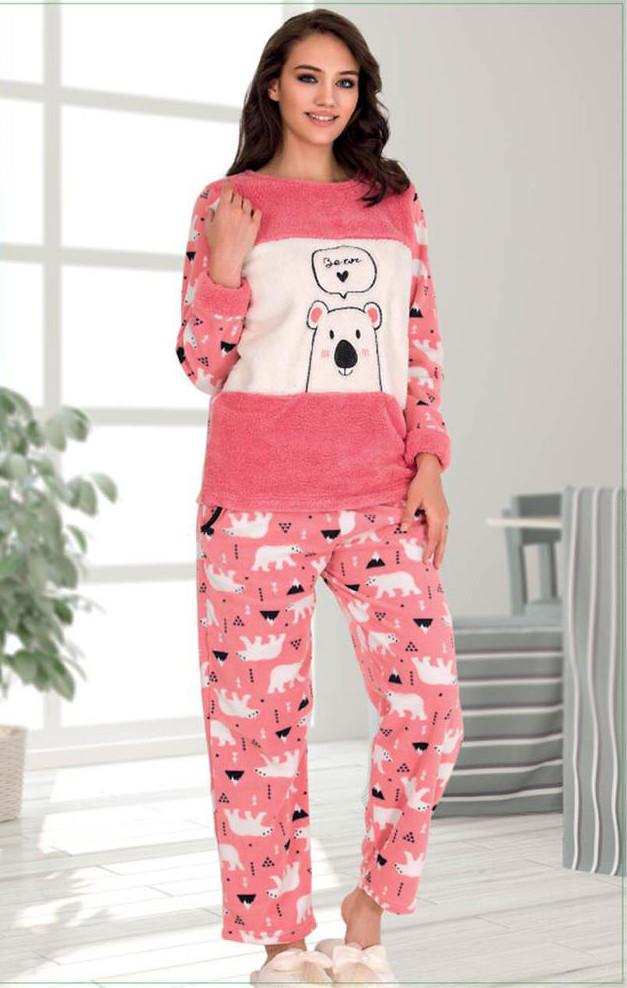 Жіноча піжама флісова Polat Yildiz S  L XL