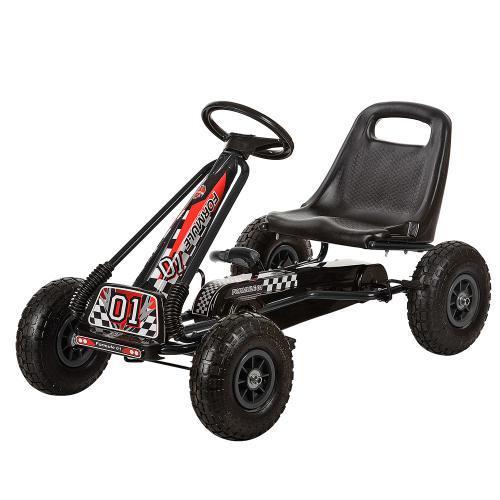 Педальный карт Bambi M 0645-2 надувные колеса черный для детей от 5 лет
