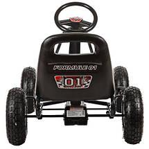 Педальный карт Bambi M 0645-2 надувные колеса черный для детей от 5 лет, фото 3