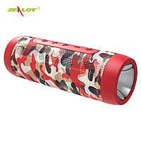 Колонка ZEALOT S22 Red Camouflage FM радио фонарик 3 режима Bluetooth microSD карта громкая связь