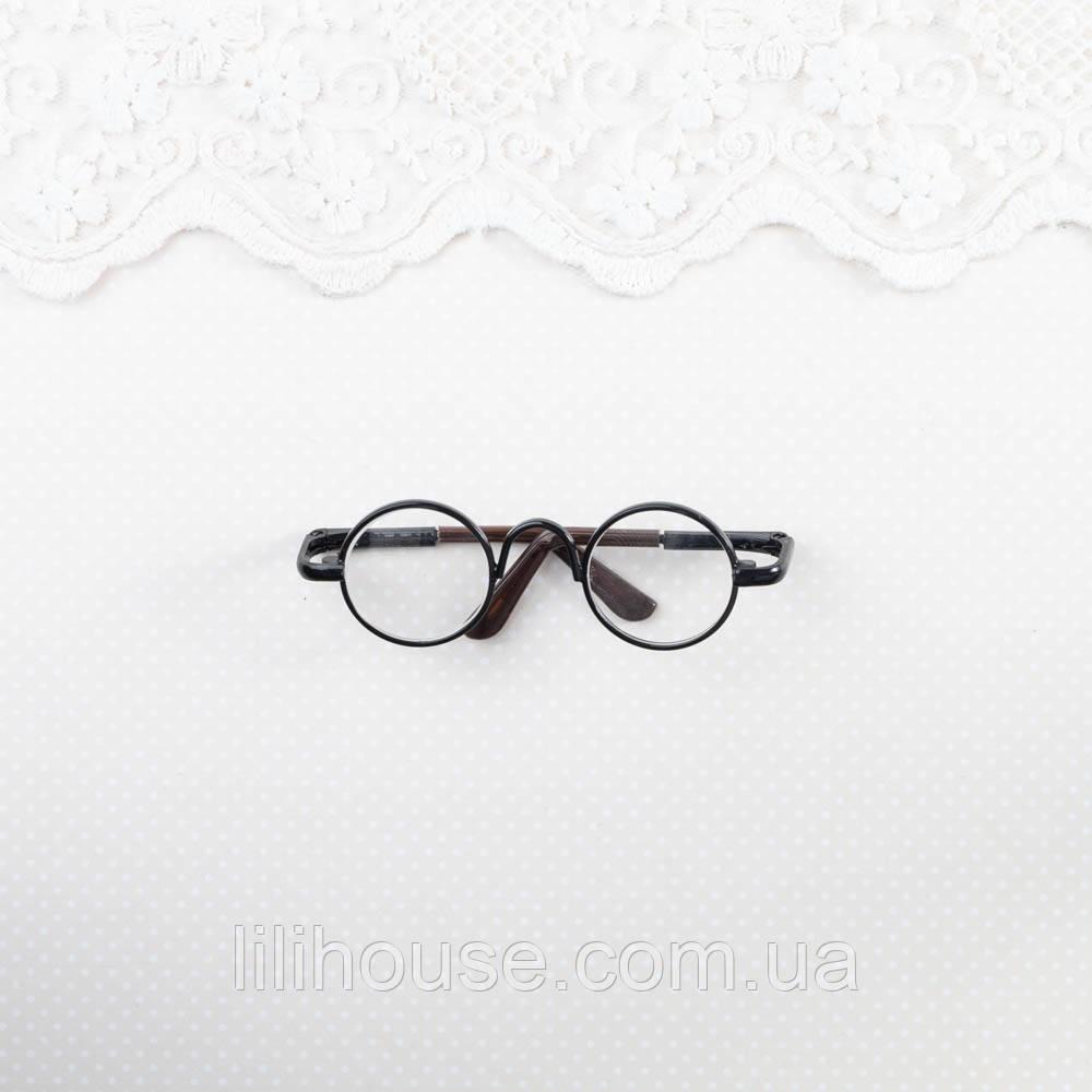 Очки Мини для Кукол и Игрушек 6.5*2 см ЧЕРНЫЕ