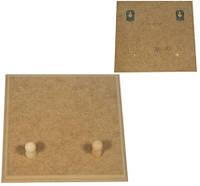 Вешалка квадратная на 2 гвоздика 17х17 см мдф заготовка для декора №05