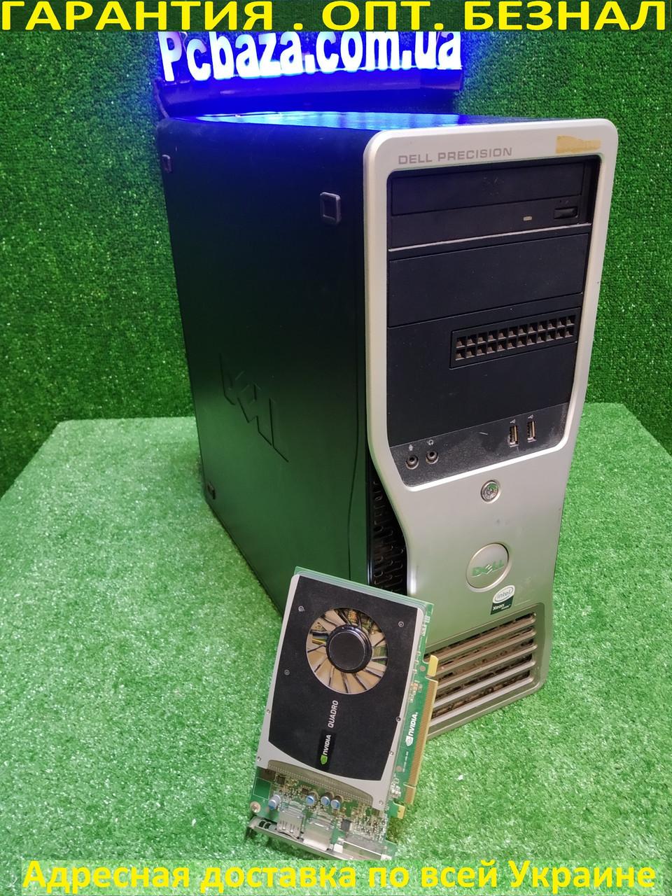 Dell Precision t3500 4 ядра 8 потоков Xeon W3530 2.8-3.06, 12 ГБ DDR3, 500 ГБ HDD, Quadro 2000 1 gb DDR5