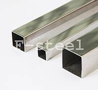 Труба профильная из нержавеющей стали 40х60 mm  PSS AISI 304 GRIT 600 продаются кратно 6 м.п