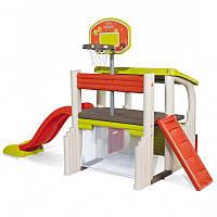 Детский игровой комплекс Fun Center Smoby 840203 с горкой и воротами для детей, фото 1