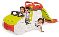 Детский игровой комплекс Машинка с горкой Smoby для детей, фото 1