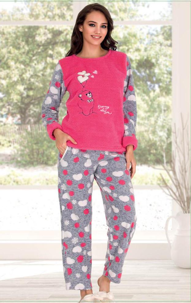 Жіноча піжама флісова Polat Yildiz M L XL