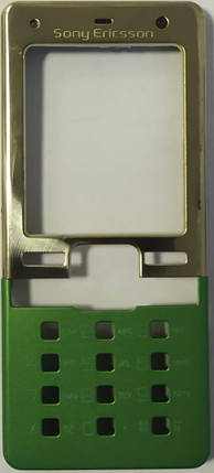 Корпус для Sony Ericsson T650 Silver-Green, фото 2