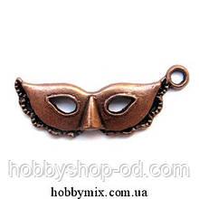 """Метал. подвеска """"маска"""" медь (3,1х1,3 см) 8 шт в уп."""