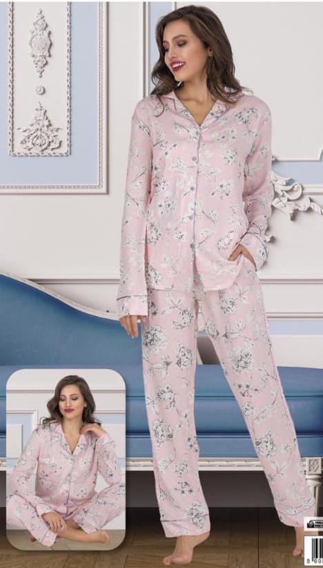 Жіноча сатинова піжама Le'Maries S M L XL