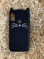 Силиконовый чехол Cat для Xiaomi Redmi 6 Pro, черный
