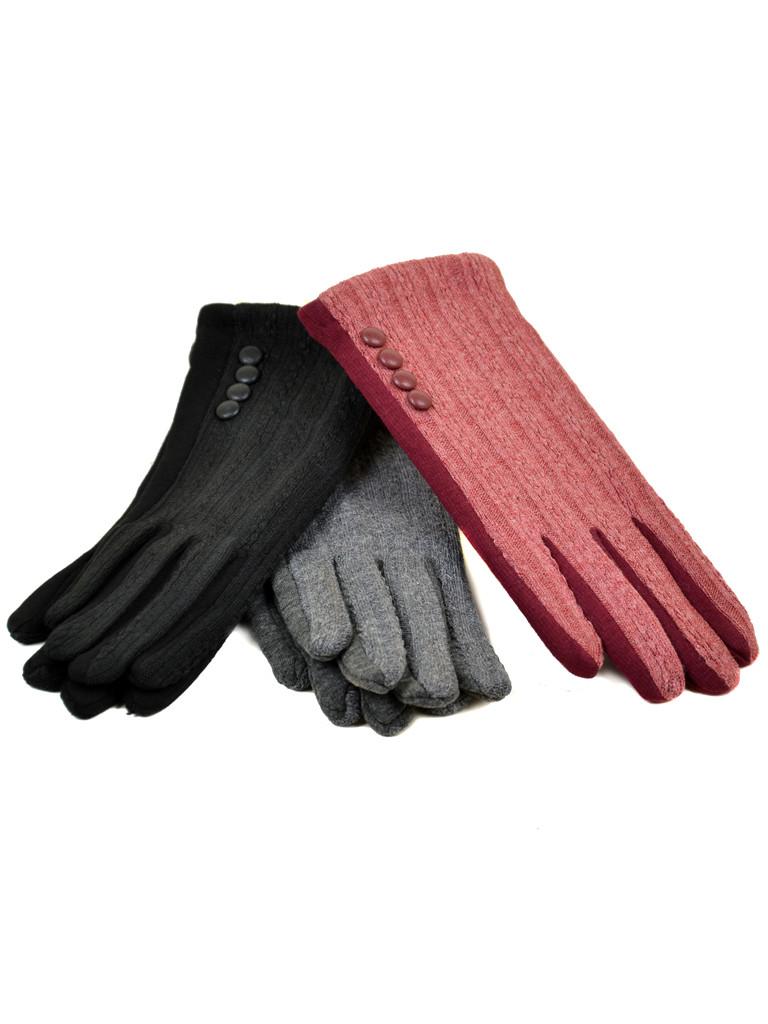 Перчатка Женская стрейч F19/17 мод5 color mix плюш Распродажа