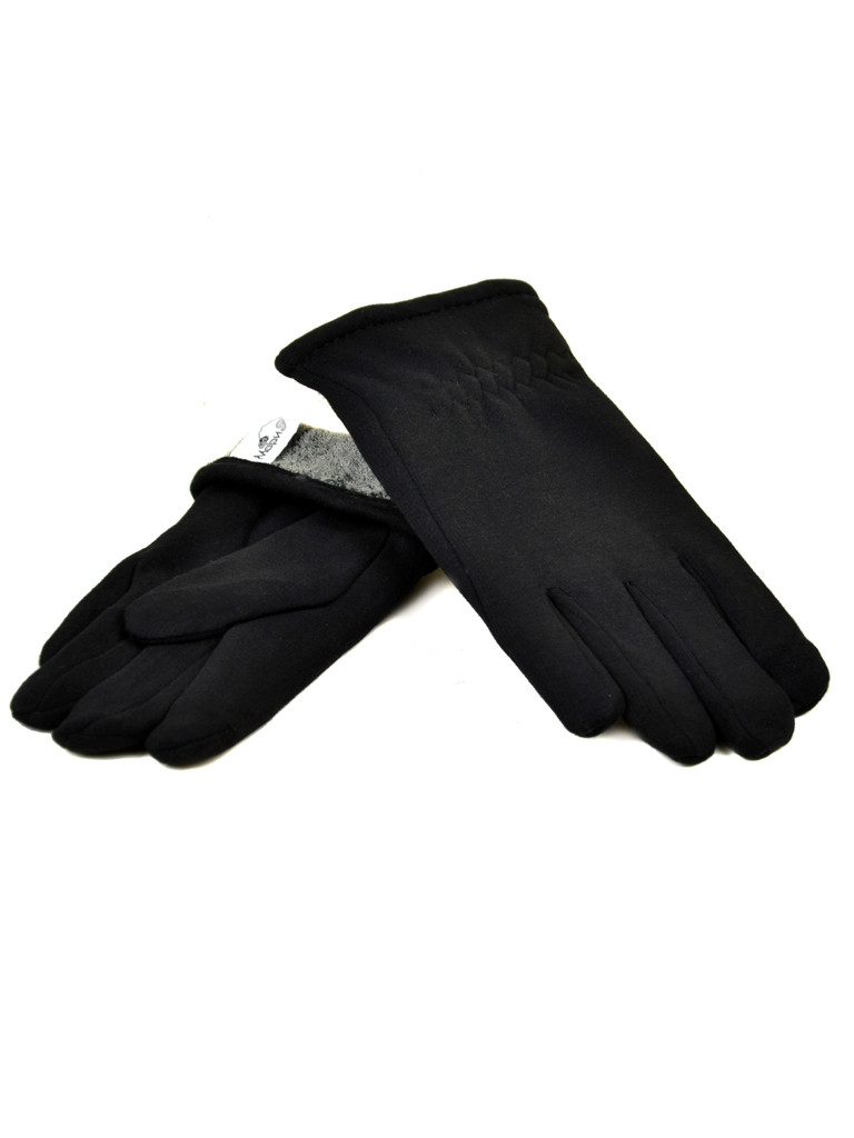 Перчатка Мужская стрейч M1/17 мод4 black махра Распродажа