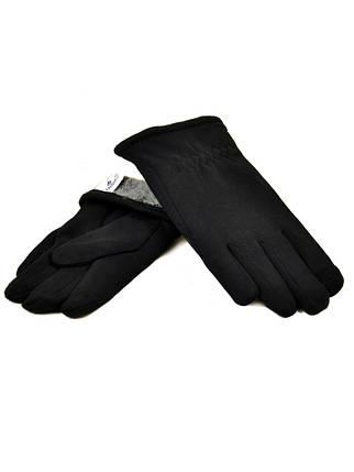 Перчатка Мужская стрейч M1/17 мод4 black махра Распродажа, фото 2