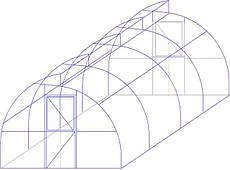 Миттлайдер Арочный ширина 3 м из трубы оц 30х30