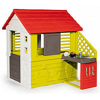Детский игровой домик Smoby 810713 с летней кухней для детей, фото 1