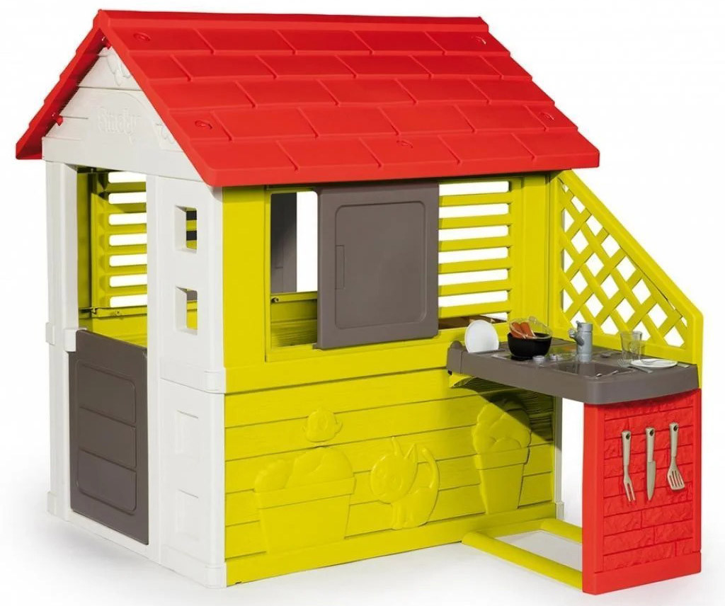 Детский игровой домик Smoby 810713 с летней кухней для детей