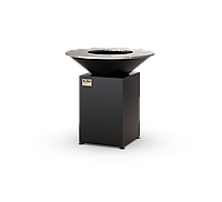 Гриль-мангал, барбекю HOLLA GRILL чёрный, закрытая тумба, фото 1