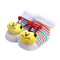 Не скользящие носки с игрушкой для новорожденных девочек и мальчиков (от 0 до 12 месяцев)