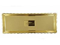 Золотой разнос 15*40 см