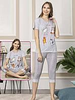 Пижама женская из хлопка с бриджами, фото 1