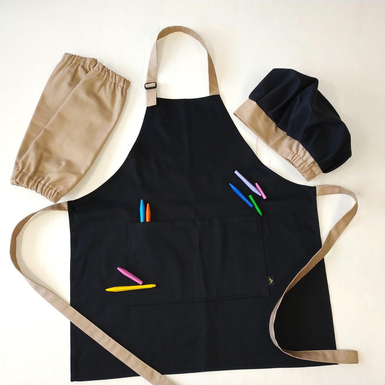 Фартух дитячий Latte Junior 7-12років | Комплект Фартух + Ковпак + Нарукавники