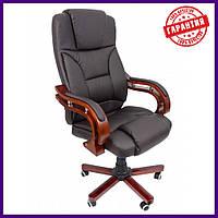 "Офисное компютерное кресло PRESIDENT 8005  Коричневое  ""Эко кожа"" Офісне крісло"