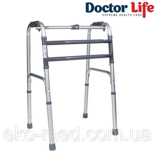 Ходунки складные алюминиевые шагающие для пожилых людей Dr.Life 10188/E/SL
