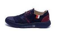 Мужские кожаные кроссовки TH Blue And Red (реплика)