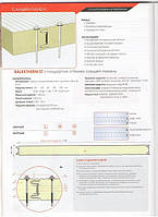Сендвич панель нержавейка 60мм ППУ СТО 60-1145 2х0.5Н