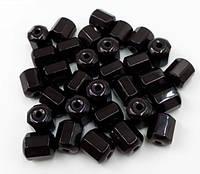 Бусинки (звенья) турманиевые (М-01) Чёрные поштучно