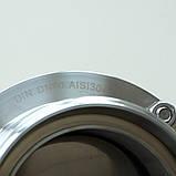 Заслонка нержавеющая дисковая поворотная резьбовая нар/нар DIN AISI304 DN100, фото 10