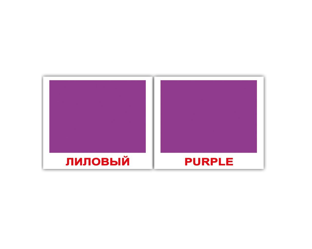 """Карточки мини русско-английские """"Цвета/Colors"""" 40 карт 096716"""