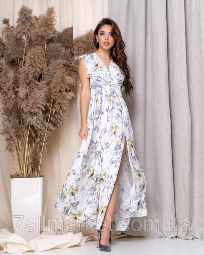 """Сукня жіноча модна з квітами розміри 42-46 """"DORA"""" купити недорого від прямого постачальника"""