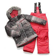 Зимний комплект для девочки NANO F17M252 Smokey Grey / Coral