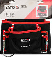 Сумка YATO поясна для інструментів з 8 кишенями СУМКА НА ПОЯС ДЛЯ ИНСТРУМЕНТОВ С 8 КАРМАНАМИ YATO YT-7410