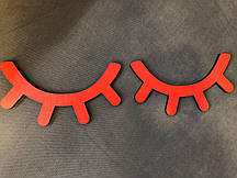 Ресницы - декор, красные (40*12)