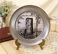 Оловянная настенная тарелка, пищевое олово, Германия, фото 1
