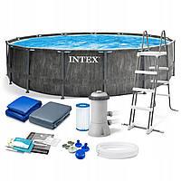 Каркасный бассейн Intex 26742, 457 x 122 см (3 785 л/ч, лестница, тент, подстилка)